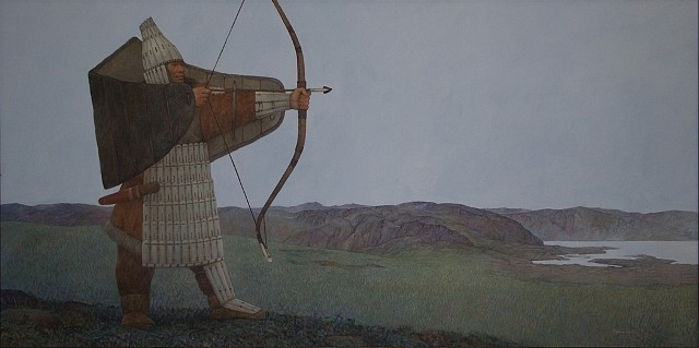 Azat Minnekaev, Winged Warrior 2008, acrylic on canvas