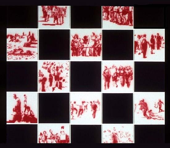 Mariano Molina, Next Movement in Black 2005, acrylic on canvas