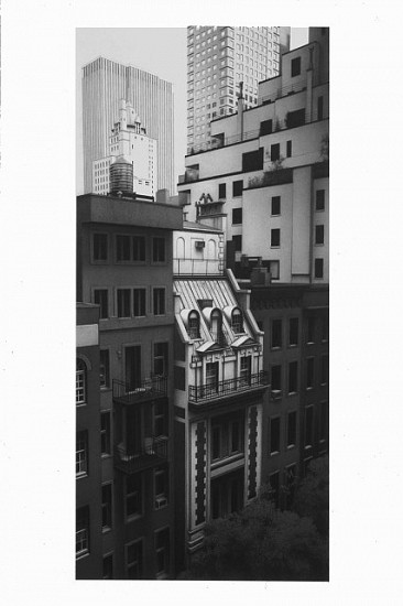Anthony Mitri, West 54th Street, From the Museum of Modern Art, New York, NY 2006, charcoal on paper