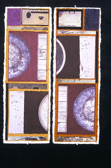 Graham Moody, Visible Surface 2003, collage diptych