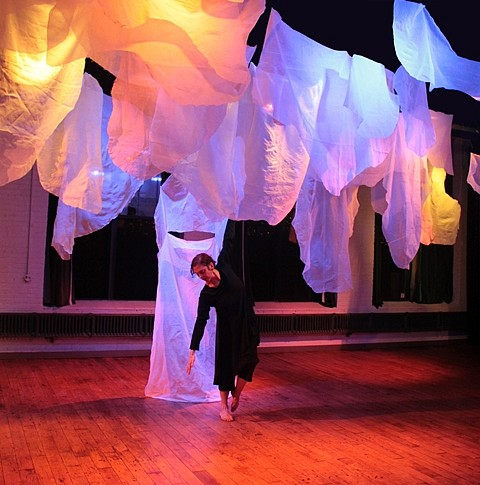 Natalie Moore, Cloud Cover 2010, fabric and LED lighting
