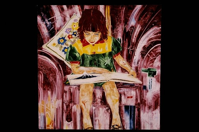 Patrick Harris, Girl Reading 2003, oil on canvas