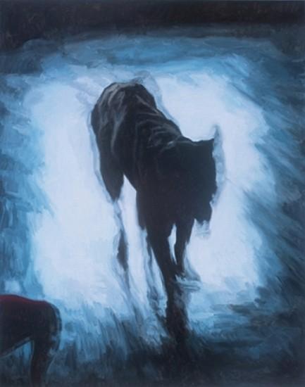 Alan Loehle, Liminal Dog I 2007, oil on canvas