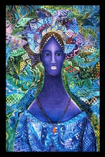 Moyo Ogundipe, Emperor Sundiatta's Daughter 2006, oil on canvas