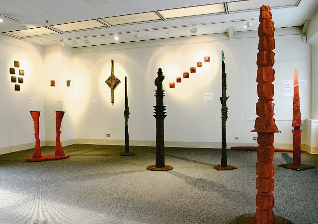 Ayano Ohmi, Installation View of Solo Exhibition, NY 2004, clay