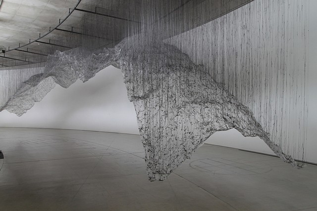 Yasuaki Onishi, Reverse of Volume 2009, glue, plastic sheet, others