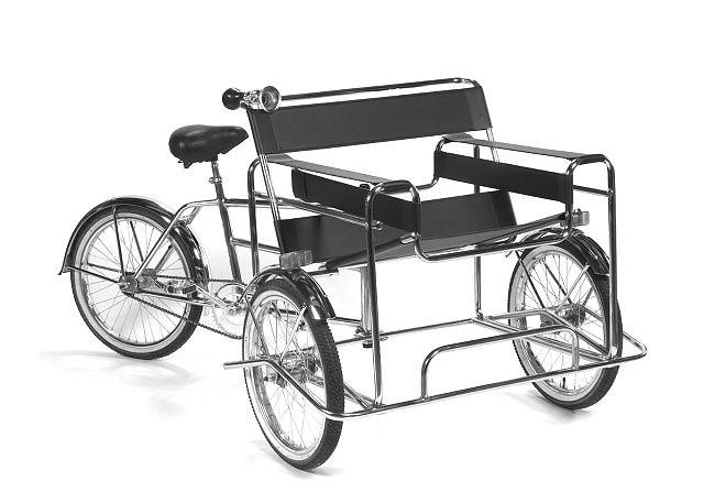 Edgar Orlaineta, Criollo 2005, tubular chromed steel, bicycle parts, leather