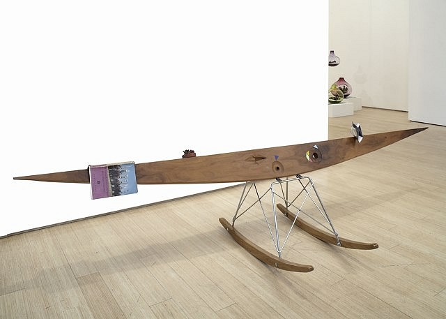 Edgar Orlaineta, Bird in Space 2006, carved wood and mixed media