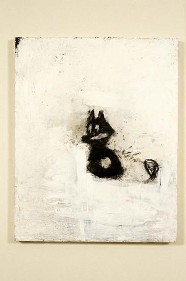 Joyce Pensato, Felix on the Run No. 5 2002, charcoal, pastel, acrylic on wood