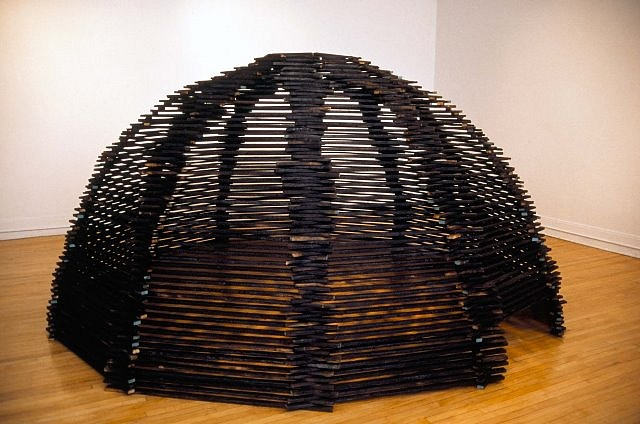 Craig Pleasants, Dodecahedron 1999, charred wood