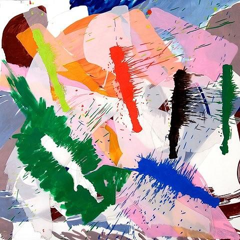 Ellen Priest, Jazz: Edward Simon's 'Venezuela Suite' No.5 2006, oil and flashe on collaged paper