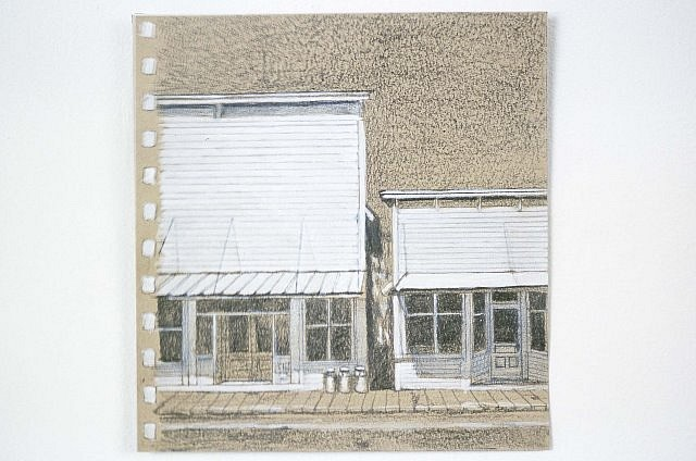 Yvonne Puffer, The Home Place No. 86 2002, pencil and acrylic on paper