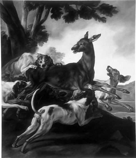 Shelley Reed, Attacked by Hounds (after Oudry) 2005, oil on canvas