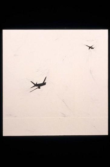 Necee Regis, Flight 4 2001, oil on paper on panel