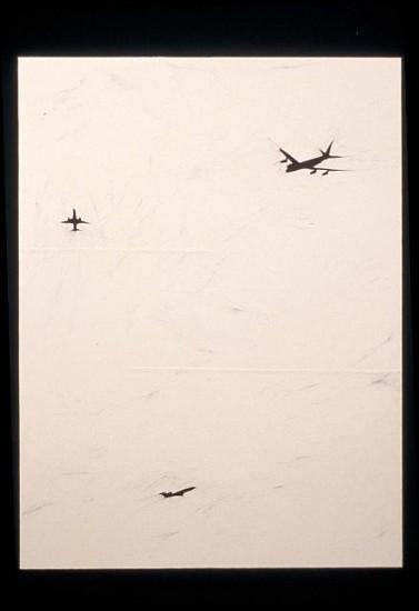 Necee Regis, Flight 3 2001, oil on paper on panel
