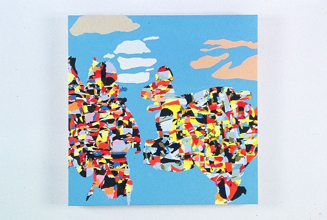Beth Reisman, Skyscape I (Boetti) 2005, acrylic on wood