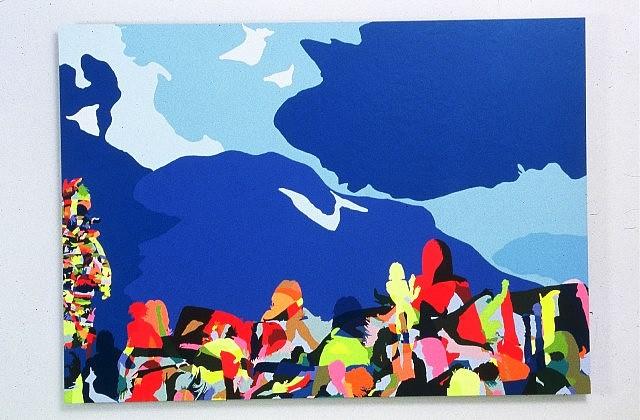 Beth Reisman, Scape 13 (Phoenicia) 2005, acrylic on aluminum