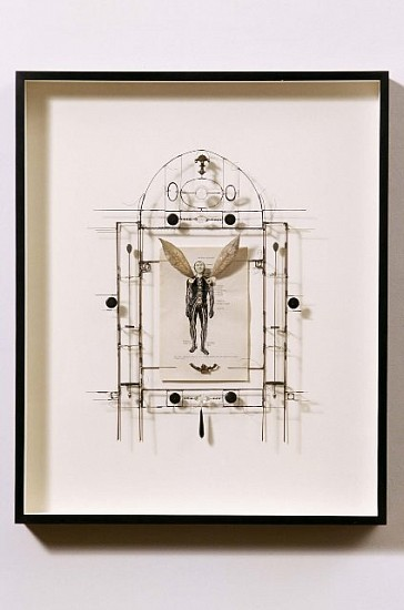 Eric Rhein, Silver Winged Male 2002, wire, paper, appropriated objects