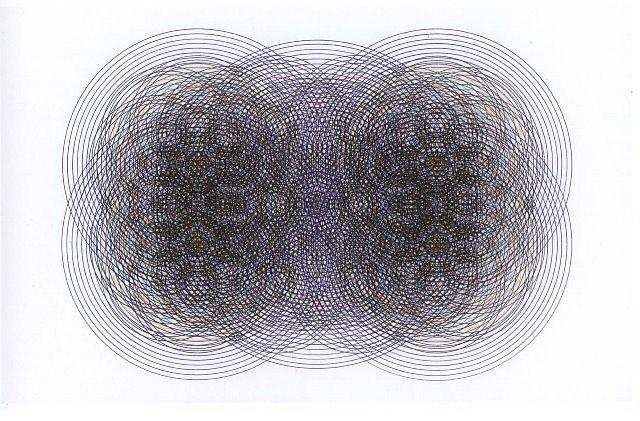 Jorge Robelo, Transcromia No. 8 2007, acrylic on paper