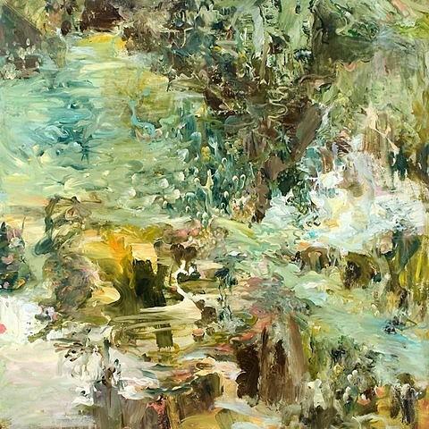 Dorothy Robinson, Dip-slip 2007, oil on canvas