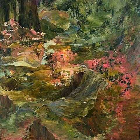Dorothy Robinson, Reverse Dip-slip 2007, oil on canvas