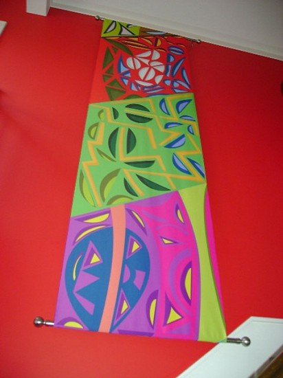 Volf Roitman, Rotational Banner I 2007 - 2008, printed silk
