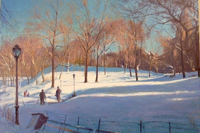 Richard Rosenblatt, Long Shadows in Winter 2008, oil on canvas