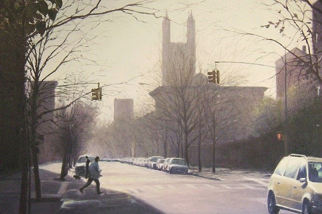 Richard Rosenblatt, Cobble Hill Early Morning 2008, oil on canvas