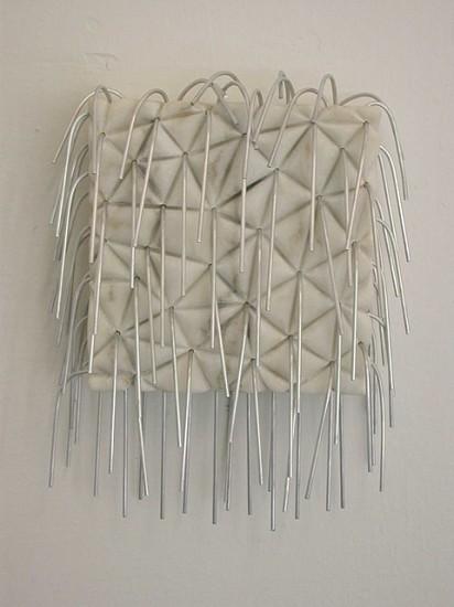 Maria Rucker, Haut und Haar 2003, marble, aluminum