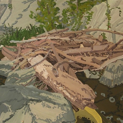 Thom Sawyer, Snake and Dam 2009, oil on canvas