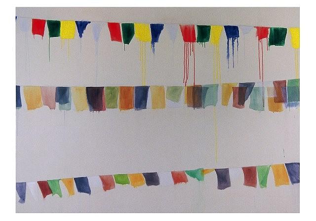 Carol Schille, Swayumbu 1 acrylic on canvas