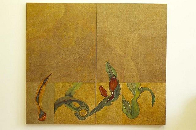 Olga Seem, Incongruities 2003, acrylic on paper on canvas