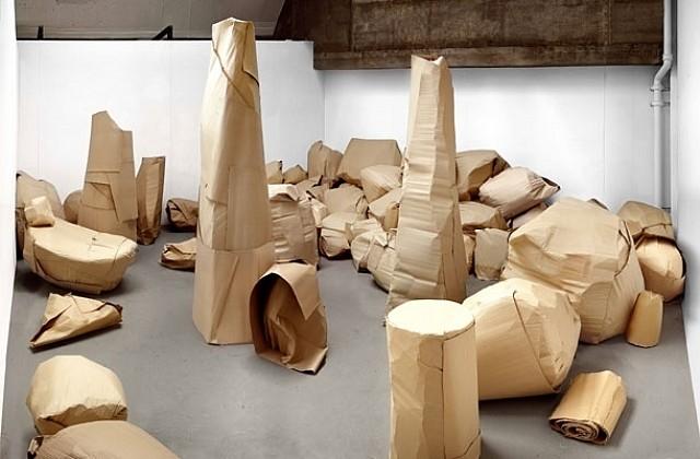 Howard Silverman, Studio Installation No. 219 2005, corregated paper