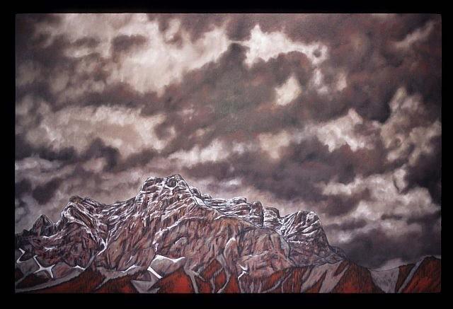 Karen Standke, Gewitterstimmung 2008, oil on canvas