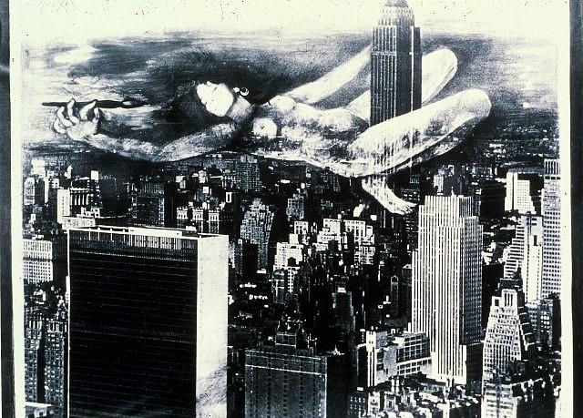Anita Steckel, Giant Woman on NY 2005, montage