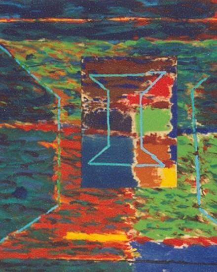 Stanislaw Stasiulewicz, In the Line 1998, acrylic
