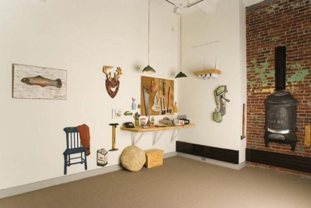 Barbara Sullivan, Repair: The Workshop 2007, shaped fresco