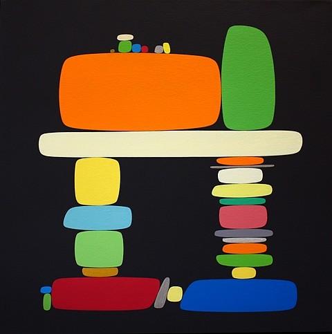SoonAe Tark, In Black 2004, acrylic on canvas