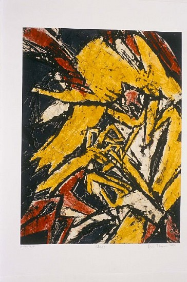 Diane Thodos, Chaos 2004, etching with monoprint