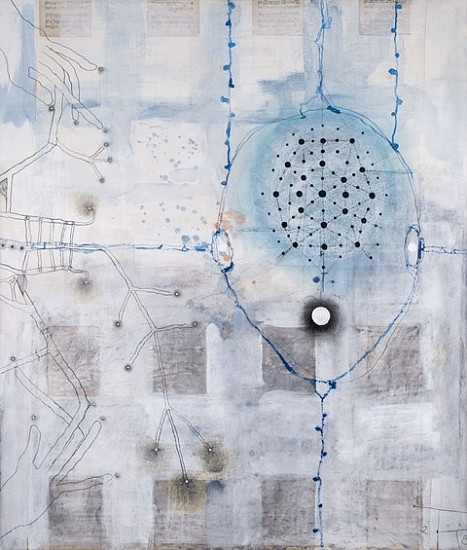 Terry Thompson, Equation 2008, mixed media on paper and canvas