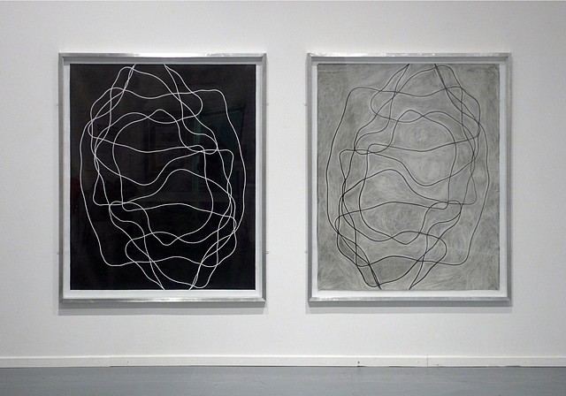 Marek Tobolewski, 2LC DipSym PosNeg 2009, solid graphite on paper, erased graphite on paper