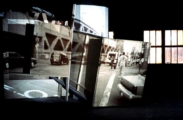 Edo Valderry, OverPass No.1 2004, wood, slide projection