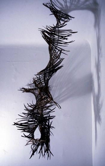 Teressa Valla, Looped Heart 2005, catalpa pods, pumice, cotton