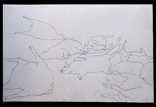 Mariana Varela, They Were Sacrificed 2002, pencil on paper