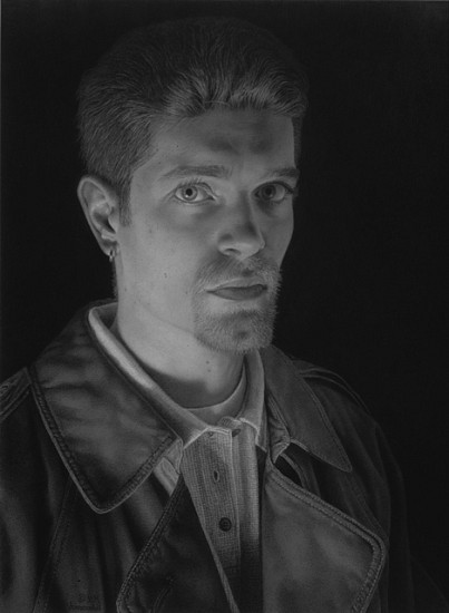 Bill Vuksanovich, Young Man with an Earring 2001, pencil on arches h.p. watercolor paper