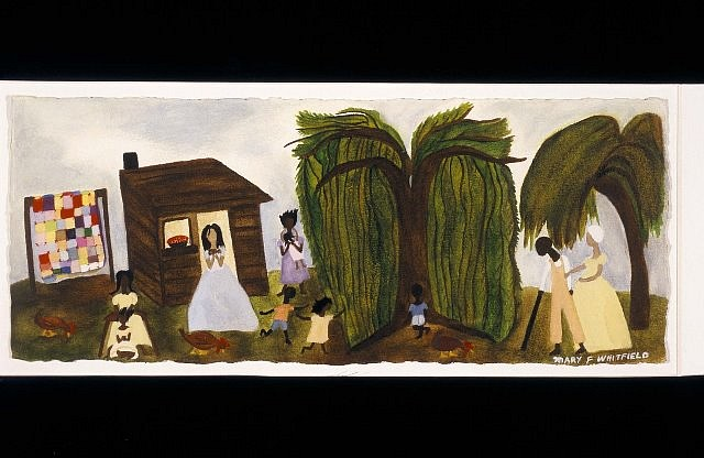 Mary Whitfield, Narrative- Cherry Pie 2004, watercolor, gouache on paper