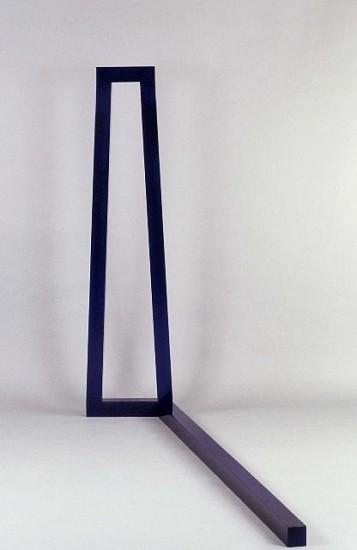 Deborah Whitman, The Distance 1990, wood, blue lacquer