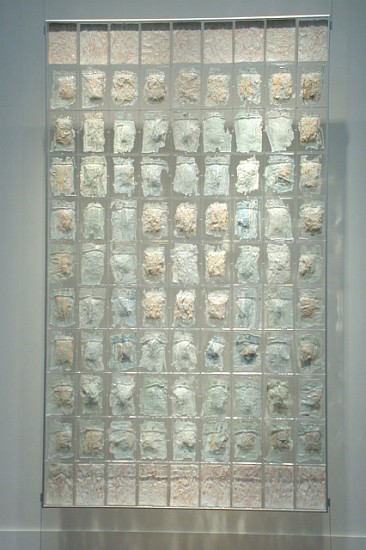 Janet Williams, 99th Meridian 2003, porcelain, Reader's Digest Condensed,  plexi-glass, casting resin, aluminum, hardware
