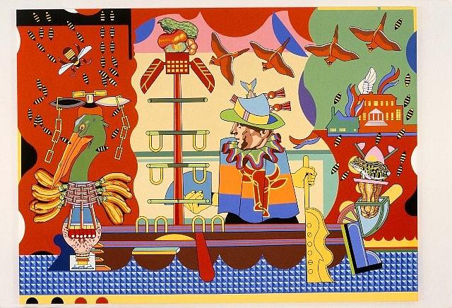 Trevor Winkfield, Voyage V 1998, acrylic on linen
