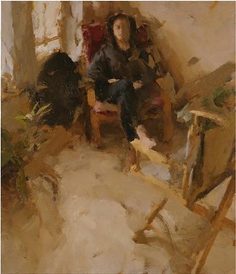Jordan Wolfson, Interior with Woman Sitting, I 2002, oil on linen